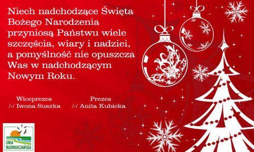 Życzenia Bożonarodzeniowe i Noworoczne 🎄🎆