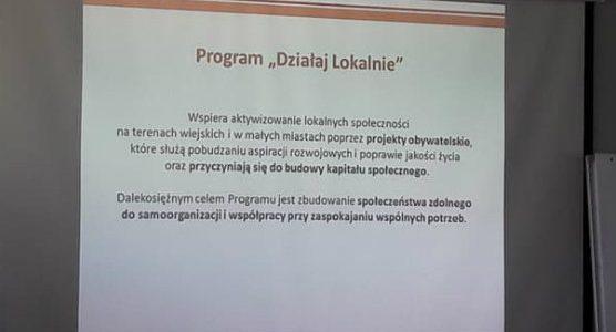 Szkolenie dla Ośrodków Działaj Lokalnie