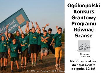 Ogólnopolski Konkurs Grantowy Programu Równać Szanse 2019!